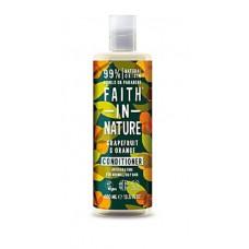 Faith in nature-Hoitoaine Greippi & Appelsiini 400ml   Rasvoittuva/Normaali hius