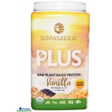 Sunwarrior classic plus kasviproteiini luomu vanilja 750g