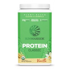 Sunwarrior protein classic vanilja raakariisioproteiini 750g idätetty + fermentoitu