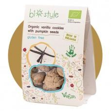 Biostyle vegaaniset vanilja-kurpitsansiemen pikkuleivät
