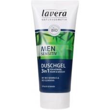 Lavera Men sensitiv miesten suihkugeeli 3in1 hiukset, kasvot, vartalo