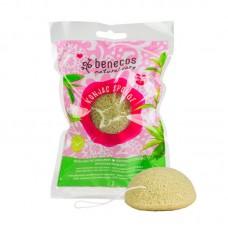 benecos konjac sponge green tee kasvojen puhdistussieni