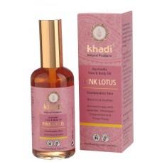 Khadi kasvo -ja vartaloöljy Pink lotus tasapainoittaa rauhoittaa