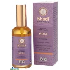 Khadi Viola orvokki kasvo- ja vartaloöljy kosteuttaa & rauhoittaa