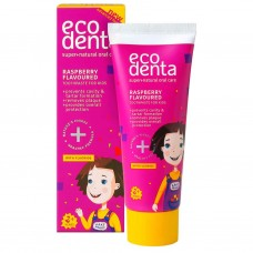 Ecodenta - lasten fluori hammastahna vadelma 75ml