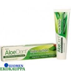 Aloe dent triple action 3-vaikutteinen hammastahna raikastaa, puhdistaa ja suojaa