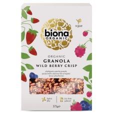 Biona granola wild berry 375g täysjyvä marjainen muromysli