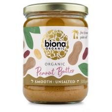 biona maapähkinävoi pehmeä luomu 500g suolaton