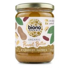 Biona luomu maapähkinävoi crunchy 500g