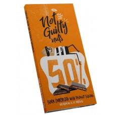 Not Guilty Vegaanine suklaalevy maapähkinä täytteellä 90g glut
