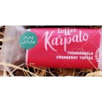 Anjan Luontoherkku Täysruokosokeri toffee karpalo 50g