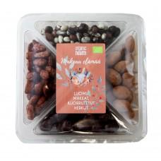Organic Health Makeaan Elämään, luomu suklaa- ja sokerihuurretutu pähkinät, marjat ja hedelmät