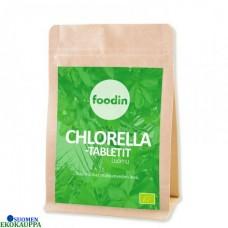 Foodin chlorella tabletti luomu & raaka 100g