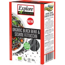 Explore Cuisine Mustapapu-seesami fettucine 200g luomu