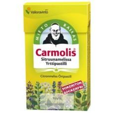 Carmolis sokeriton sitruunamelissa yrttipastilli 45g