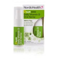 Nordic Health DLux 3000 75 mikrog D-vitamiinisuihke