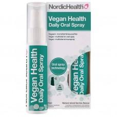 nordic health Vegaaninen monivitamiinisuihke 25ml Rauta, D3, B12,jodi